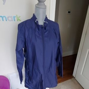nwt women's xl long the north face blue jacket